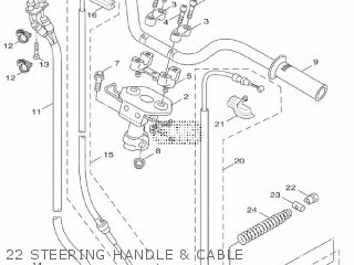 Yamaha Xf50 2009 15p5 Europe Giggle 1h15p-300e1 22 Steering Handle  Cable