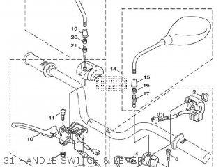 Yamaha Xf50 2009 15p5 Europe Giggle 1h15p-300e1 31 Handle Switch  Lever