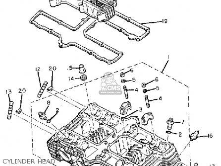 Yamaha Xj1100 Maxim 1982 c Usa Cylinder Head