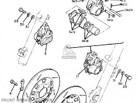 Yamaha Xj1100 Maxim 1982 c Usa Front Brake - Caliper