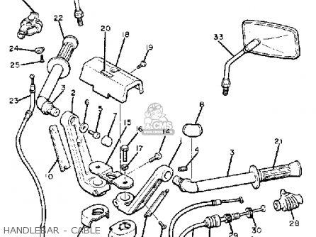 Yamaha Xj1100 Maxim 1982 c Usa Handlebar - Cable