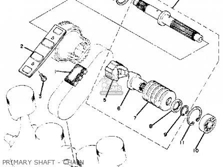 Yamaha Xj1100 Maxim 1982 c Usa Primary Shaft - Chain
