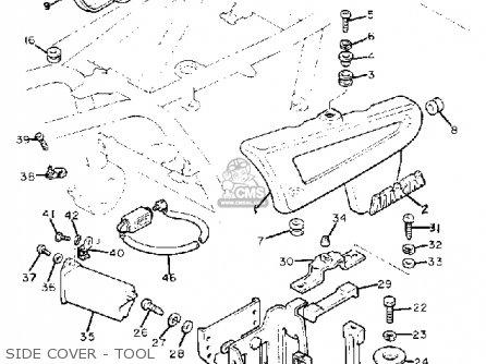 Yamaha Xj1100 Maxim 1982 c Usa Side Cover - Tool
