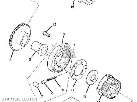 Yamaha Xj1100 Maxim 1982 c Usa Starter Clutch