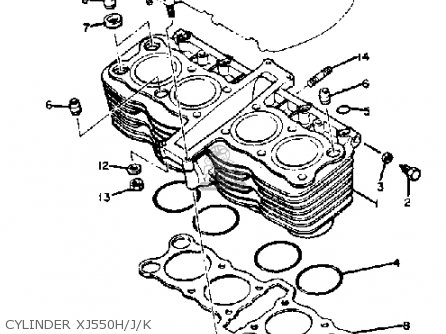 yamaha xj550 carburetor diagram