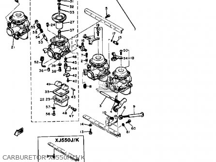 yamaha xj550 carburetor diagram