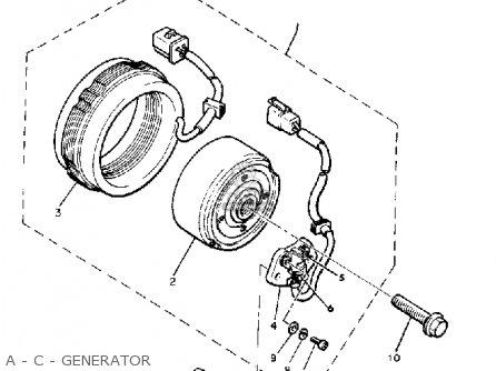 Yamaha Xj650 Maxim 1980 a Usa A - C - Generator