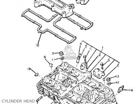Yamaha Xj650 Maxim 1980 a Usa Cylinder Head