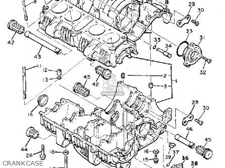 Yamaha Xj650g Maxim 1980 Crankcase