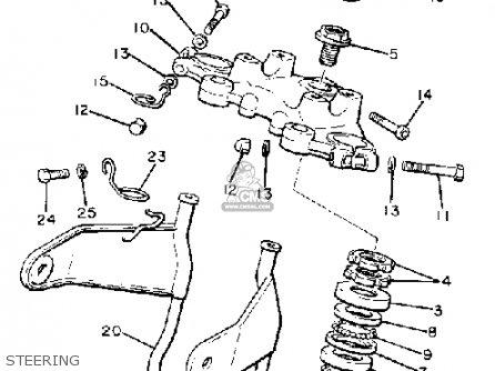 Yamaha Xj650g Maxim 1980 Steering