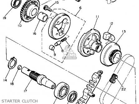 yamaha xj750k maxim 1983 parts list partsmanual partsfiche yamaha golf cart starter generator wiring diagram