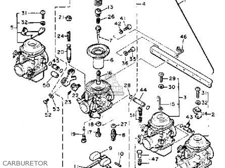 Yamaha Xj750m Midnightmaxim 1983 d Usa Carburetor