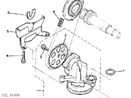 Yamaha Xj750m Midnightmaxim 1983 d Usa Oil Pump