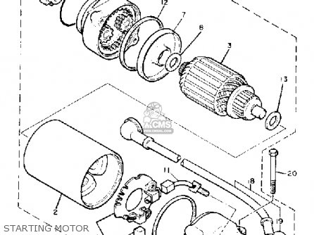 Yamaha Xj750m Midnightmaxim 1983 d Usa Starting Motor