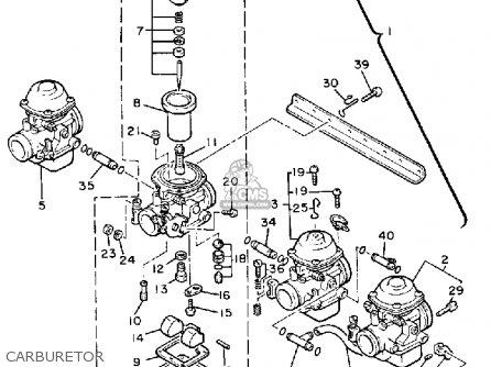 Yamaha Xj900r Seca 1983 d Usa Carburetor