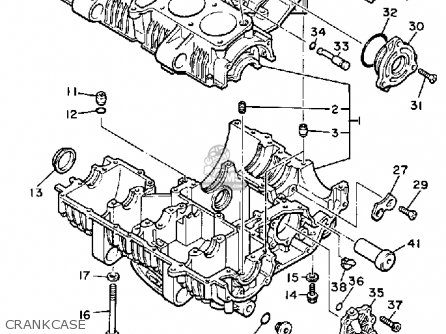 Yamaha Xj900r Seca 1983 d Usa Crankcase