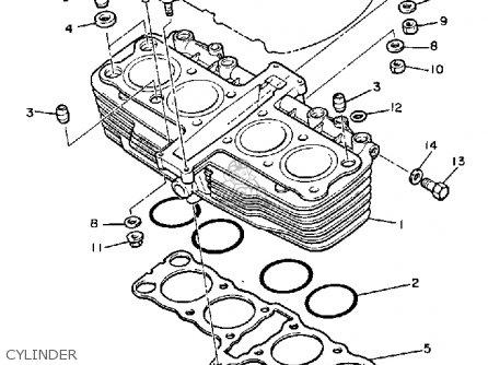 Yamaha Xj900r Seca 1983 d Usa Cylinder