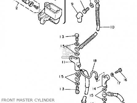 Yamaha Xj900r Seca 1983 d Usa Front Master Cylinder