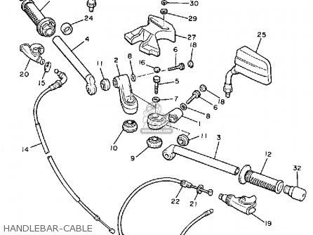 Yamaha Xj900r Seca 1983 d Usa Handlebar-cable