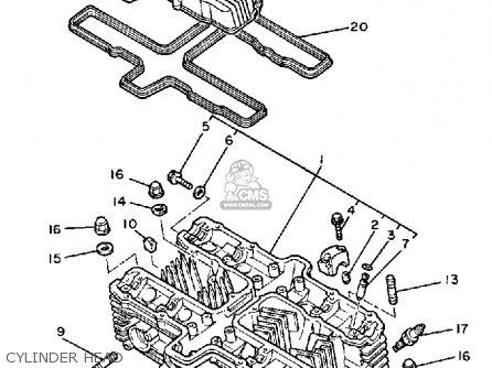 Yamaha Xj900rk 1983 Cylinder Head