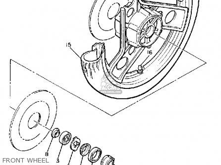 Yamaha Xj900rk 1983 Front Wheel