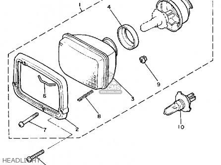 Yamaha Xj900rk 1983 Headlight
