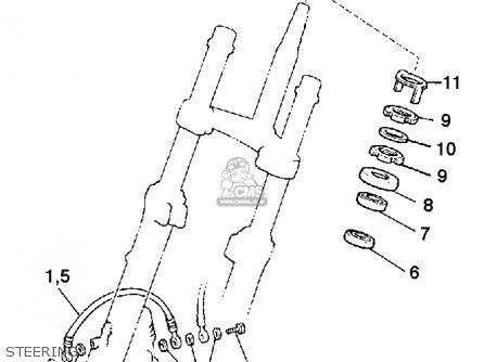 Yamaha Xj900rk 1983 Steering