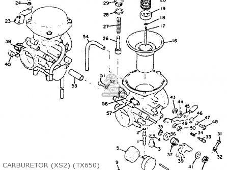 Yamaha Xs2 1972 Usa Carburetor xs2 tx650