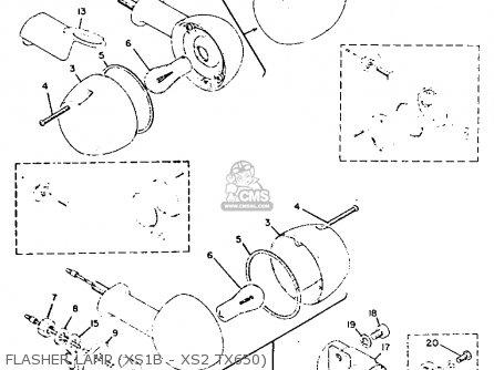 Yamaha Xs2 1972 Usa Flasher Lamp xs1b - Xs2 Tx650
