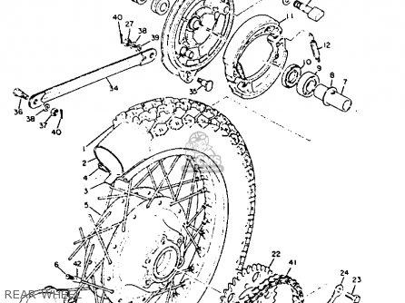 Yamaha Xs2 1972 Usa Rear Wheel