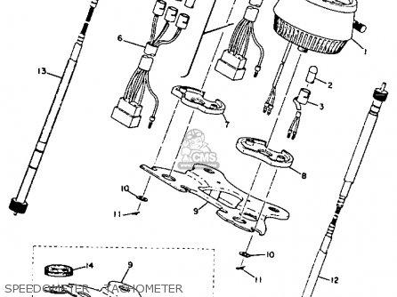 Yamaha Xs2 1972 Usa Speedometer - Tachometer