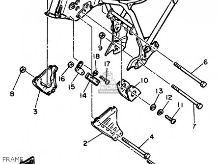 Yamaha Xs400 1982 Maxim Usa Frame