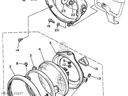 Yamaha Xs400 1982 Maxim Usa Headlight
