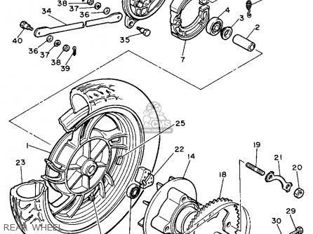 Yamaha Xs400 1982 Maxim Usa Rear Wheel