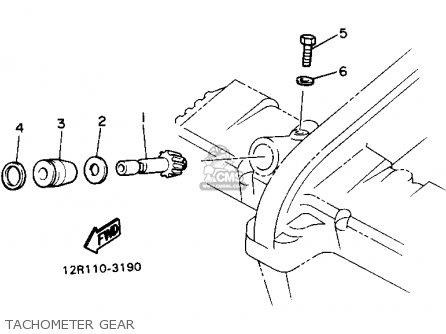 Yamaha Xs400 1982 Maxim Usa Tachometer Gear