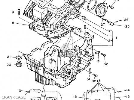 Yamaha Xs400 Maxim 1982 c Usa Crankcase