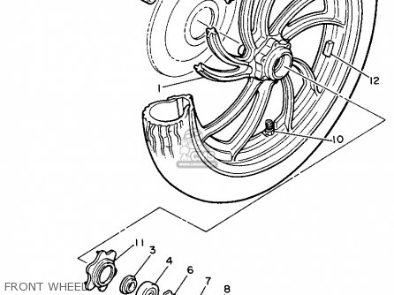 Yamaha Xs400 Maxim 1982 c Usa Front Wheel