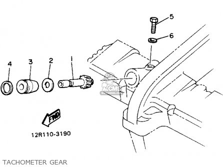 Yamaha Xs400 Maxim 1982 c Usa Tachometer Gear