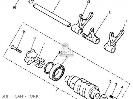 Yamaha Xs400j Maxim 1982 Shift Cam - Fork
