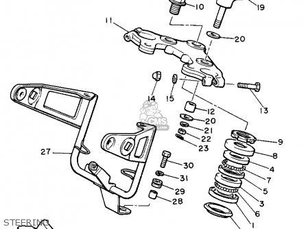 Yamaha Xs400j Maxim 1982 Steering