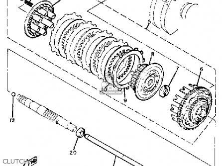 yamaha xs400r seca 1982  c  usa parts list partsmanual