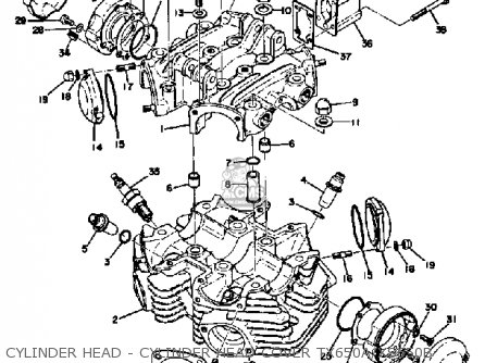 Yamaha Xs650 1975 Usa Parts Lists And Schematics