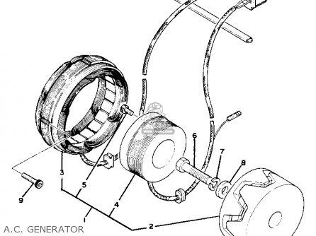 Yamaha xs750s 1978 usa canada parts list partsmanual for Yamaha generator canada