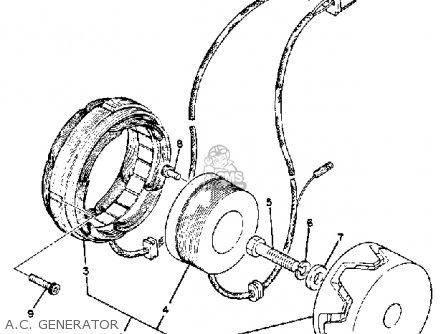 Yamaha Xs850g 1980 A c  Generator
