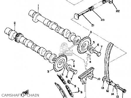 Yamaha Xs850g 1980 Camshaft - Chain