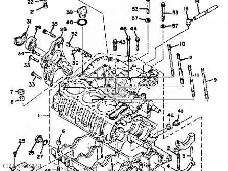 yamaha xs850g 1980 parts list partsmanual partsfiche