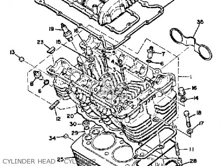 Yamaha Xs850g 1980 Cylinder Head - Cylinder