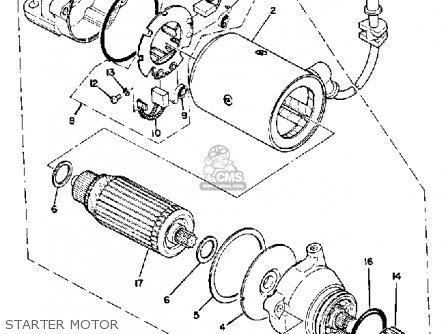 Yamaha Xs850g 1980 Starter Motor