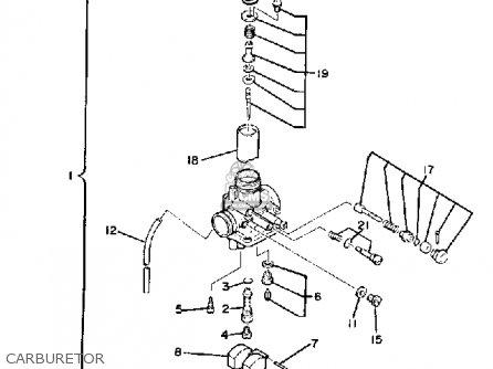 Yamaha XT200 DUAL PURPOSE 1982 (C) USA parts lists and ... on