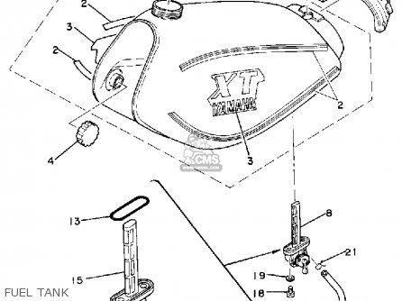 Yamaha Xt250 Dual Purpose 1980 A Usa Parts Lists And Schematics